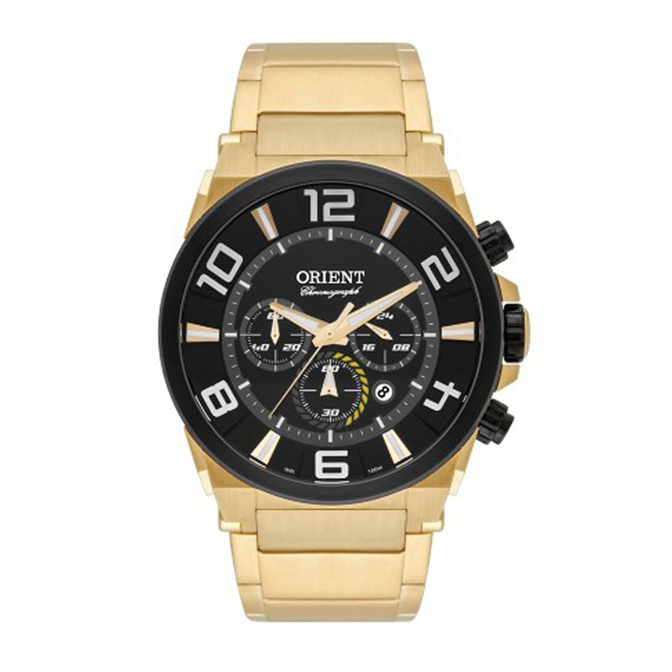 Relógio Orient Cronógrafo Masculino Dourado MGSSC016 P2KX