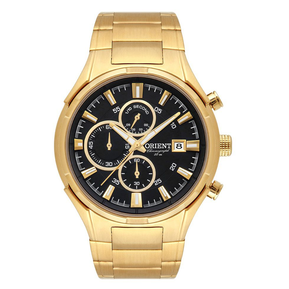Relógio Orient Cronógrafo Masculino Dourado MGSSC027 P1KX