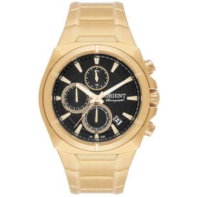 Relógio Orient Masculino Cronógrafo Dourado MGSSC012 P1KX