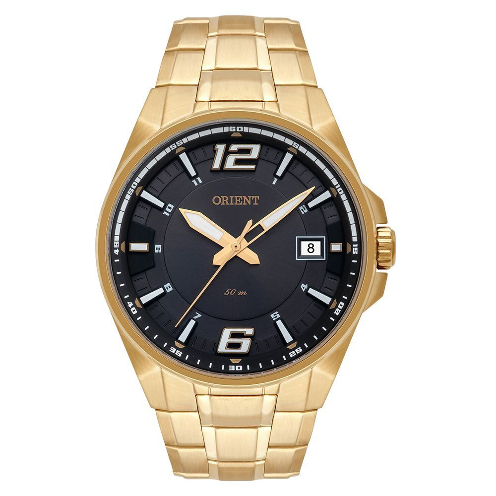 Relogio Orient Masculino Dourado Mgss1168 g2kx