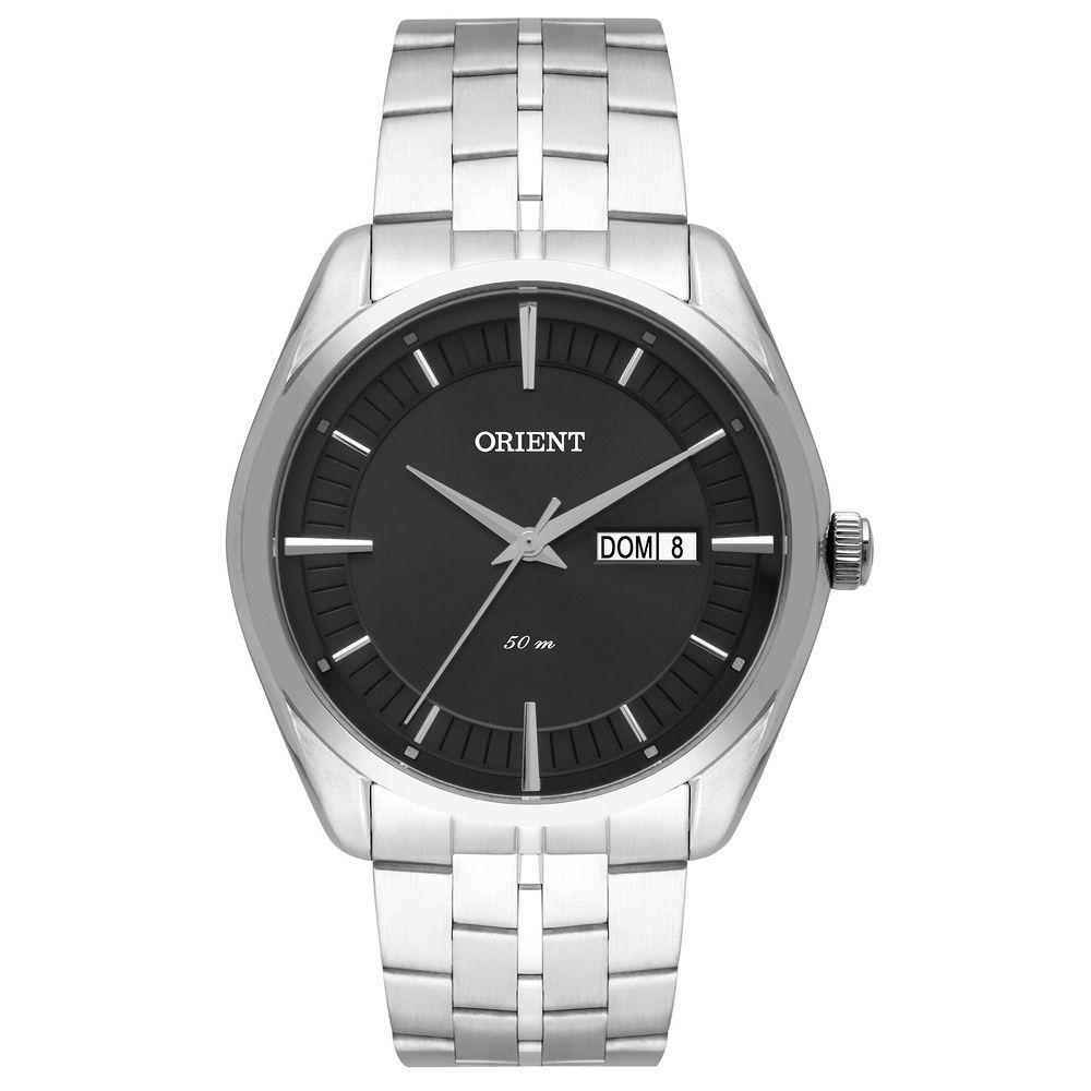 Relógio Orient Masculino Mbss2022 G1sx Grafite Aço Analogico