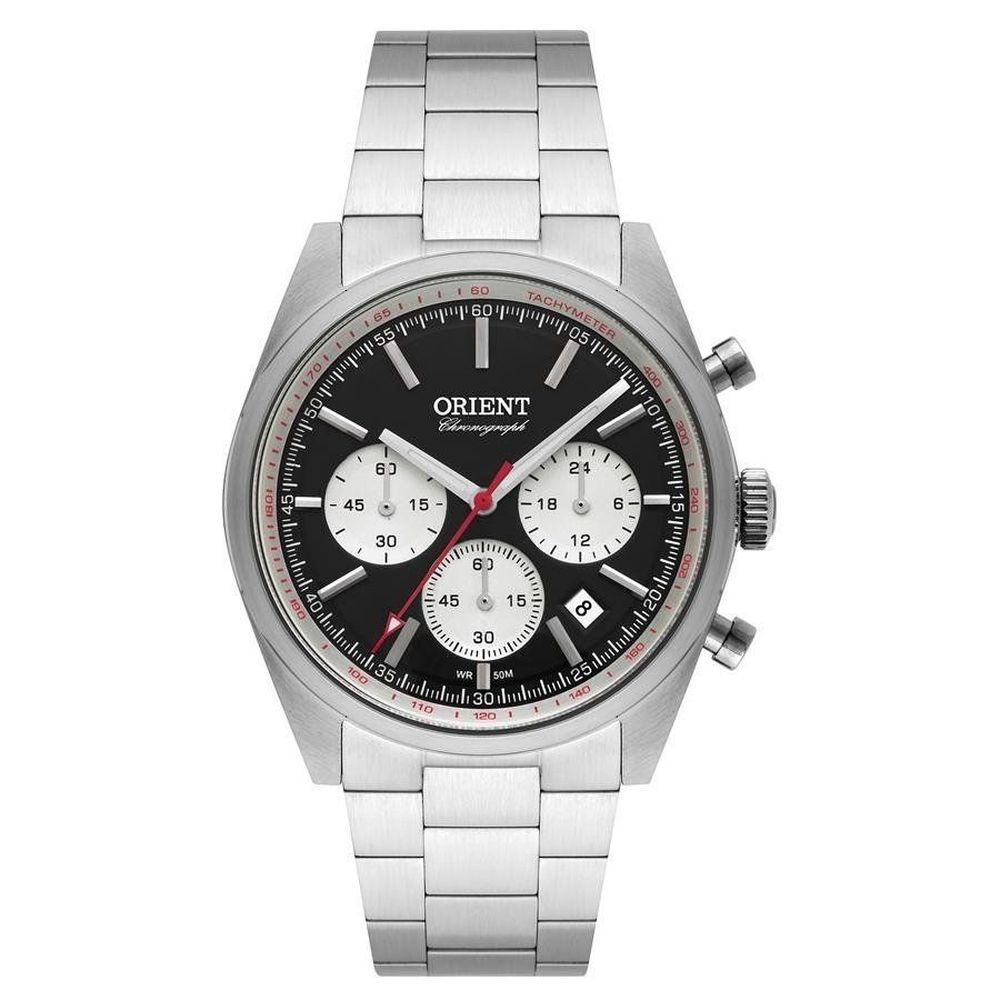Relógio Orient Masculino Mbssc187 P1sx Cronógrafo Prateado