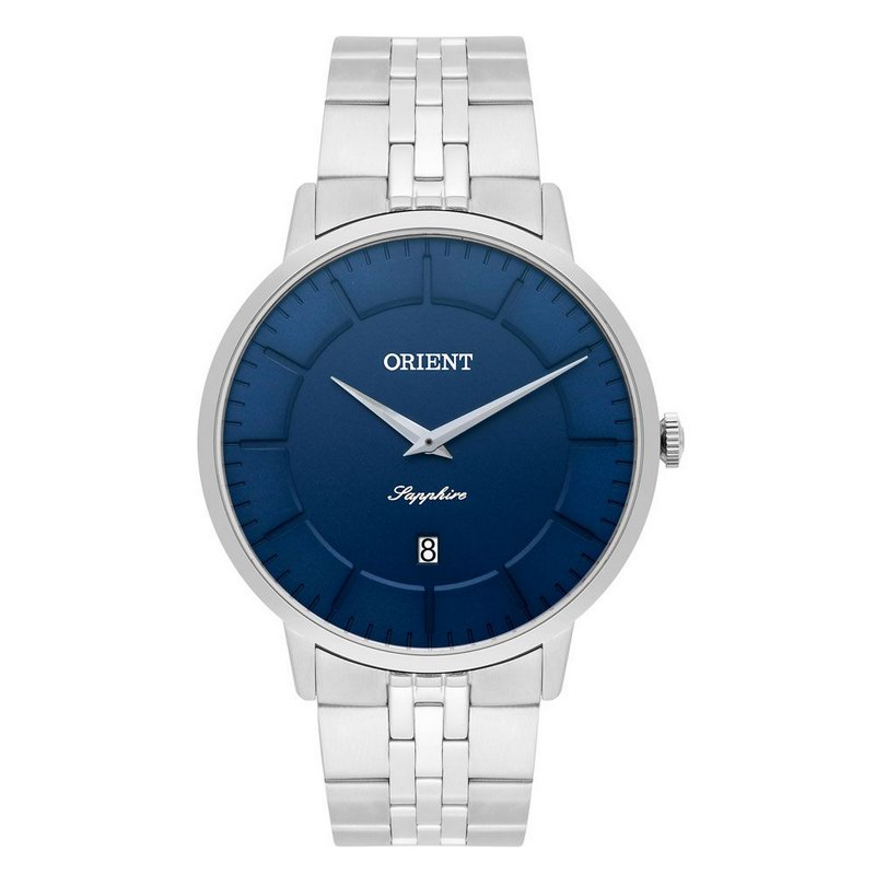 Relógio Orient Masculino Mbsss009 D1sx Slim Safira