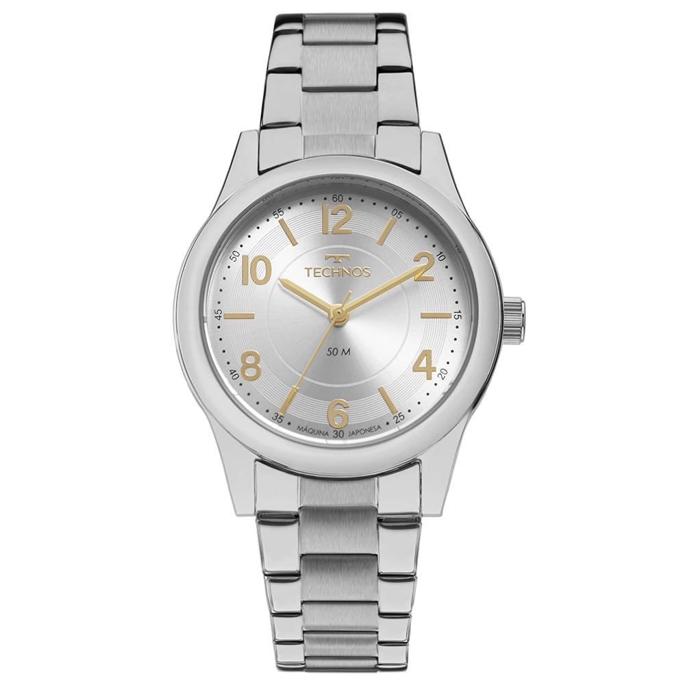 Relógio Technos Feminino Boutique Prata 2035MFUS/3K
