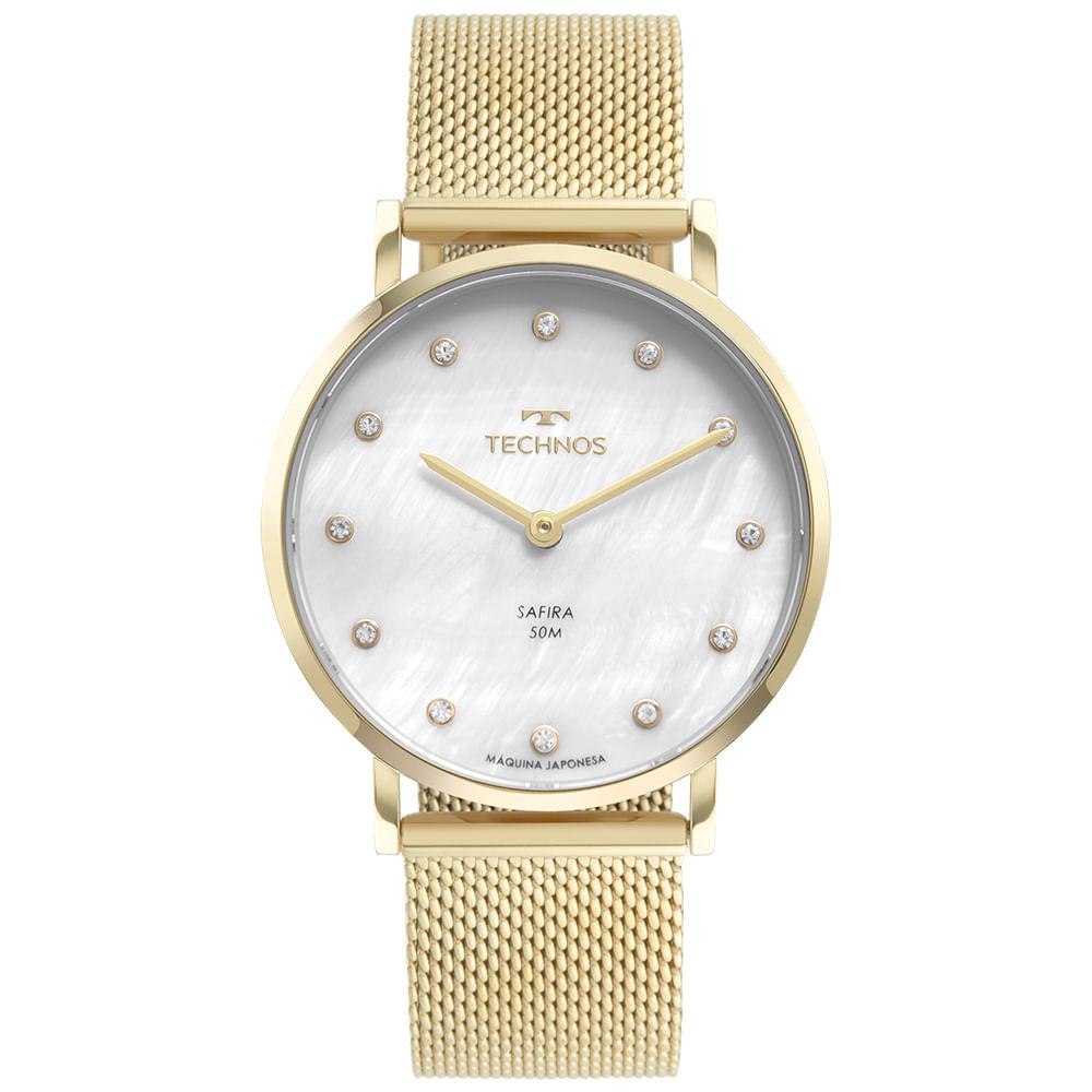 Relógio Technos Feminino Elegance Slim Dourado 2025LTU/1B