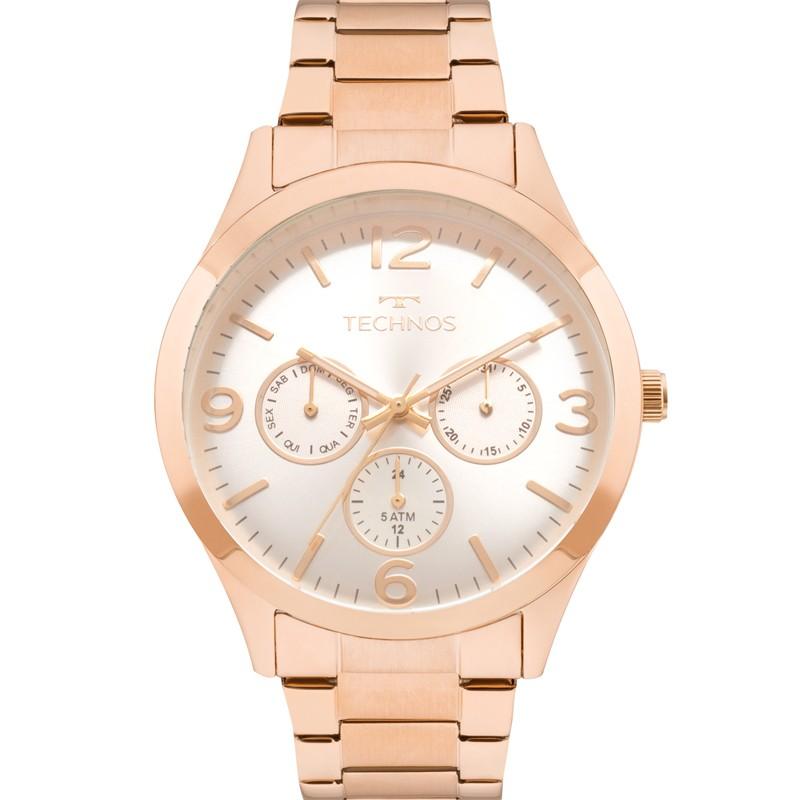 Relógio Technos Feminino Rosé Mutifunção 6P29AJM/4K