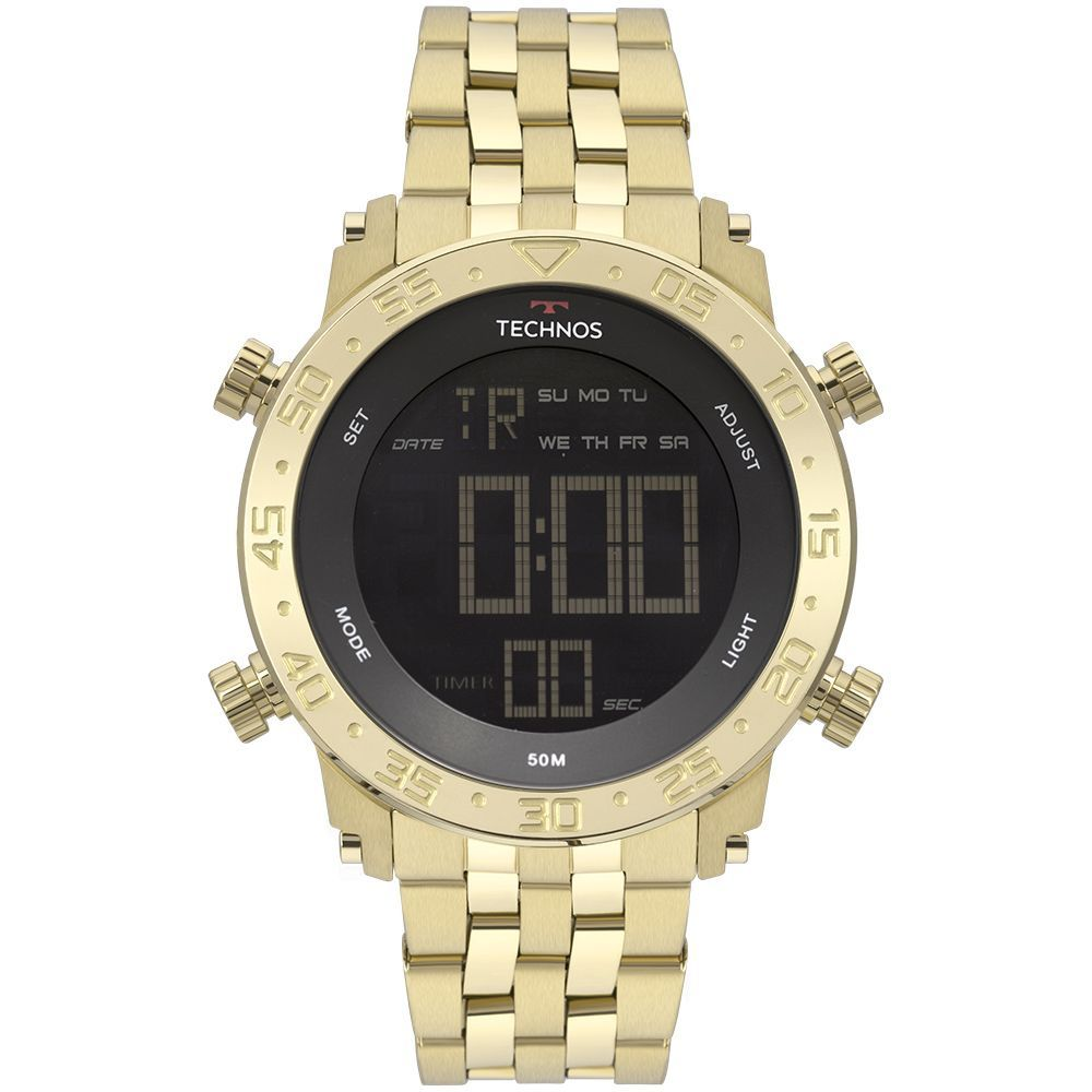 Relógio Technos Masculino Digi-ana Dourado Bjk006ac/4p