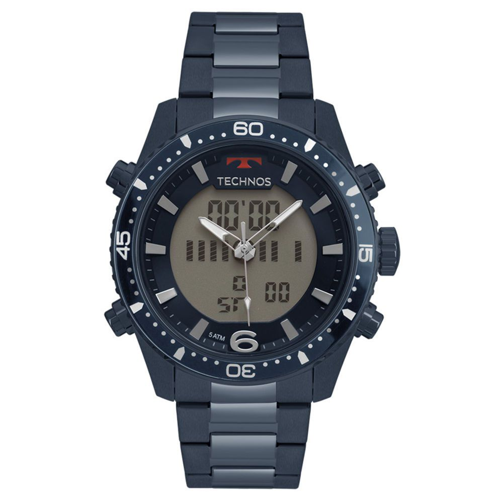 Relógio Technos Masculino Digiana Bjk203aae/4a Azul