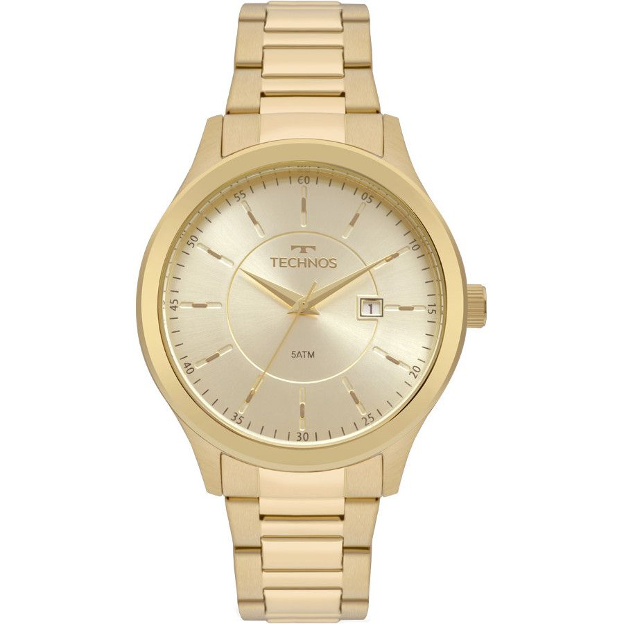 Relógio Technos Masculino Dourado 2115mpt/4x