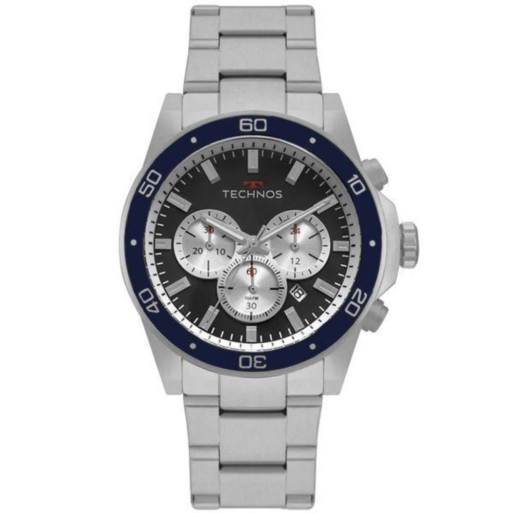 Relógio Technos Skymaster Masculino Prata JS25BY/1P