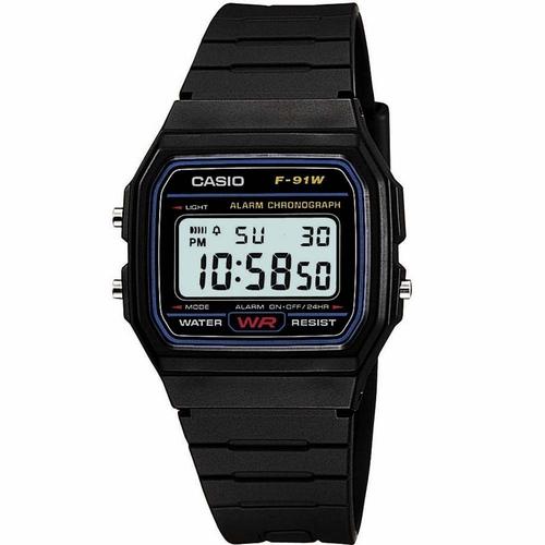 Relógio Unissex Casio Vintage F-91W-1CH Preto