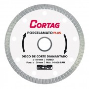 Disco Diamantado para Porcelanato 110mm Cortag