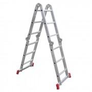 Escada Articulada em Alumínio 12 Degraus 3x4  13 Posições