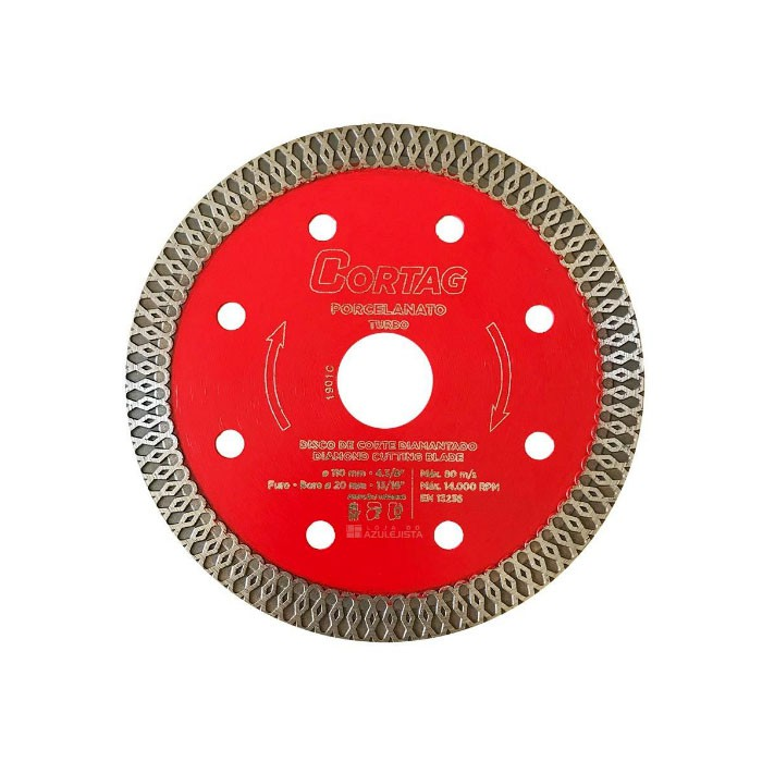 Disco Diamantado para Porcelanato Turbo 110mm Cortag