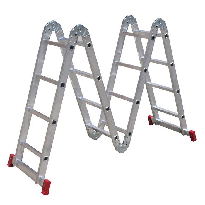 Escada Articulada em Alumínio 16 Degraus 4x4  13 Posições