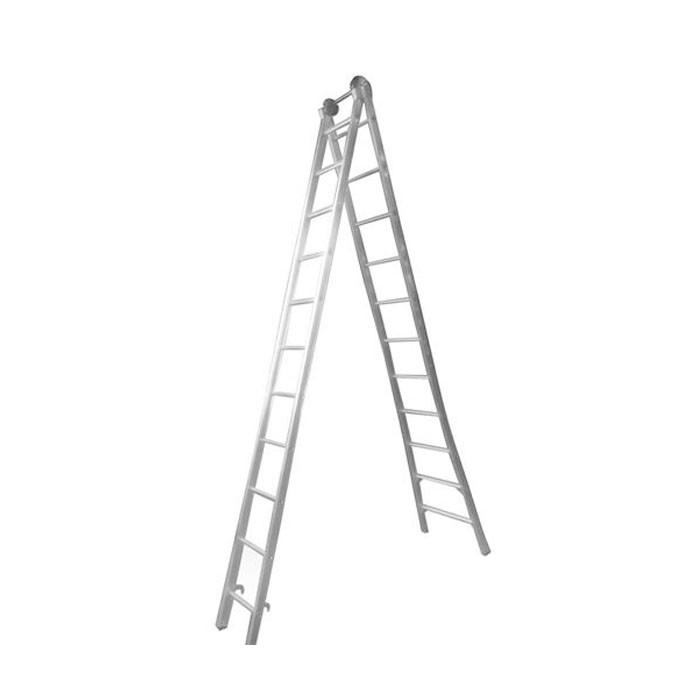 Escada Extensiva em Alumínio 11 Degraus Real