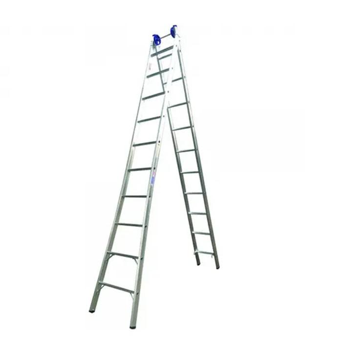 Escada Extensiva em Alumínio 9 Degraus Real