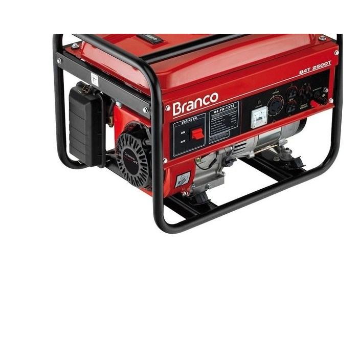 Gerador de Energia a Gasolina 2,2Kva Bivolt B4T 2500S Branco