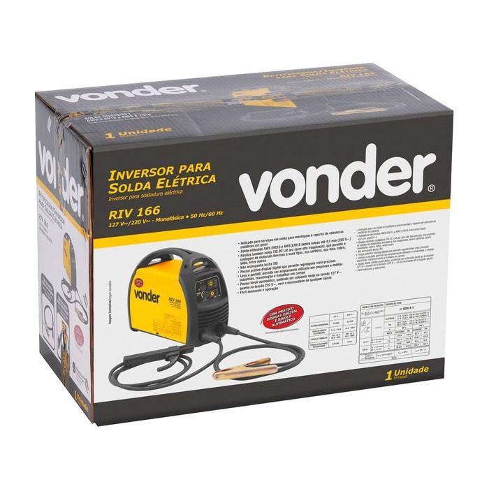 Inversor para Solda Elétrica Bivolt RIV 166 Vonder
