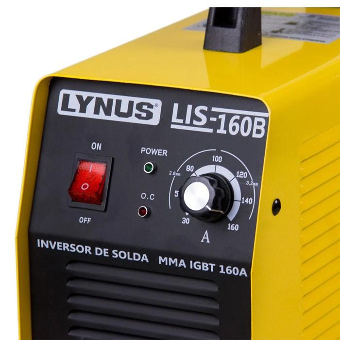 Máquina Inversora de Solda Mma Igbt Bivolt 160A Lynus Lis 160B