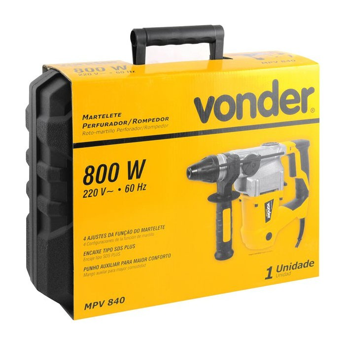 Martelete Perfurador/Rompedor MPV840 220V Vonder