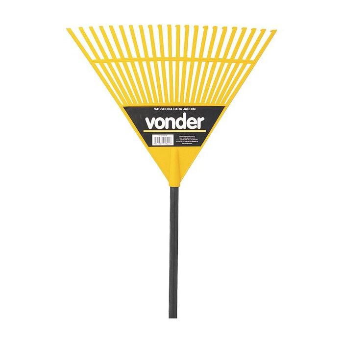 Vassoura para Grama Plástica 22 Dentes com Cabo Vonder