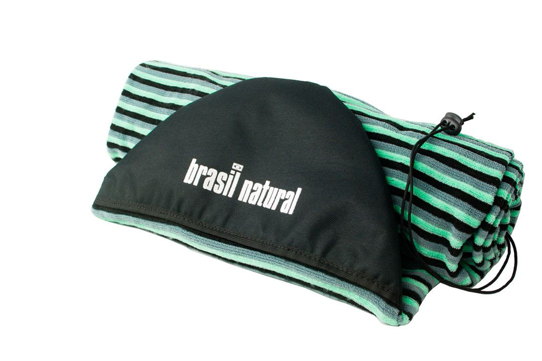 Capa camisinha atoalhada 7.6 para pranchas de surf soft Brasil Natural
