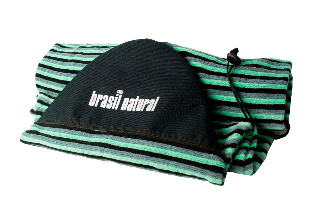 Capa camisinha atoalhada para pranchas de surf soft Brasil Natural