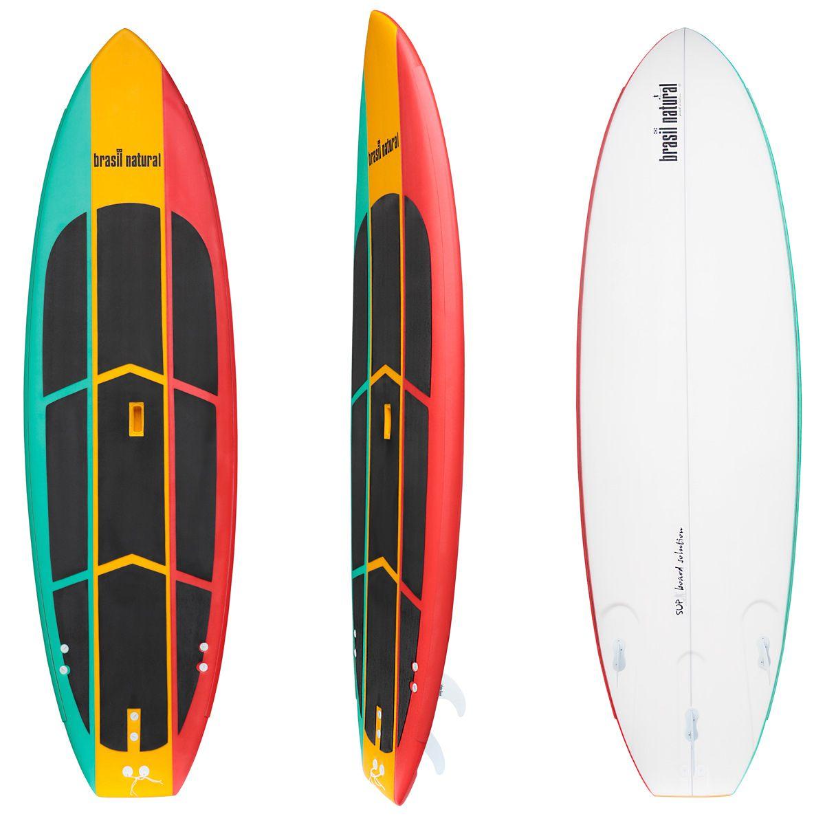 Prancha de stand up paddle 10 pés soft edição limitada + kit remada Brasil Natural