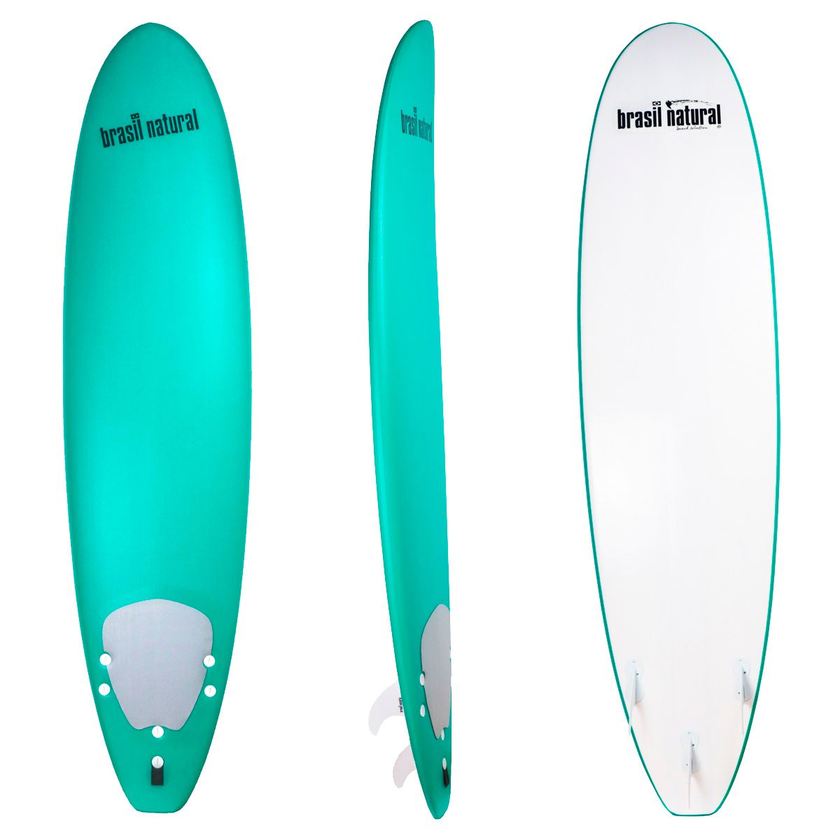 Prancha de surf fun board 7.2 NEW EDITION + kit surf - Brasil Natural