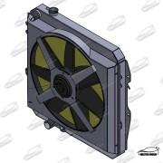 RADIADOR TOYOTA HILUX 2.8 - UPGRADE C/ TAMPA E DEFLETOR E ELETRO VENTILADOR