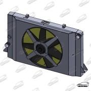 Radiador F1000 95+ COM DEFLETOR E ELETRO VENTILADOR