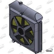 Radiador F100 (automatica) COM DEFLETOR E ELETRO VENTILADOR