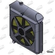 Radiador F100 COM DEFLETOR E ELETRO VENTILADOR