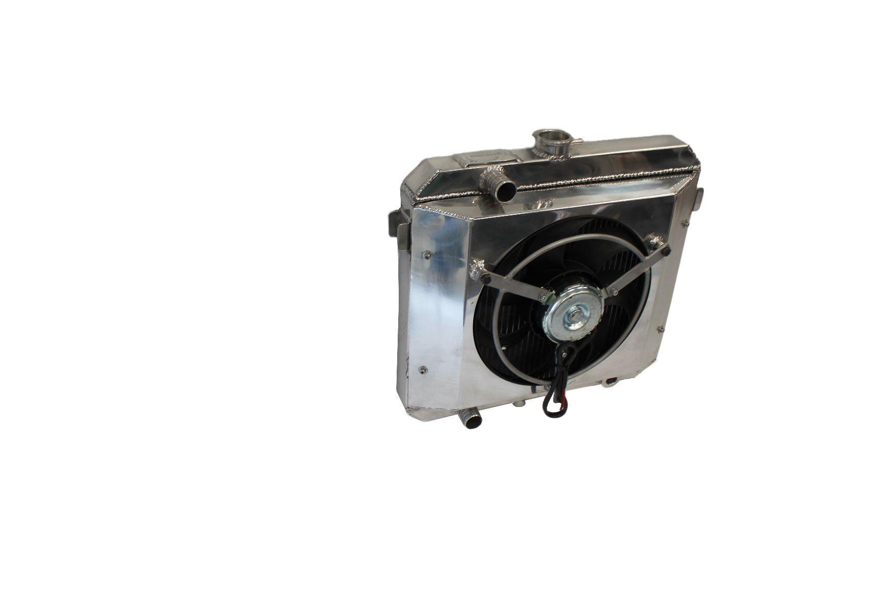 RADIADOR CHEVETTE 1000 HP COM DEFLETOR E VENTOINHA (ALUMÍNIO BRASADO PREMIUM)
