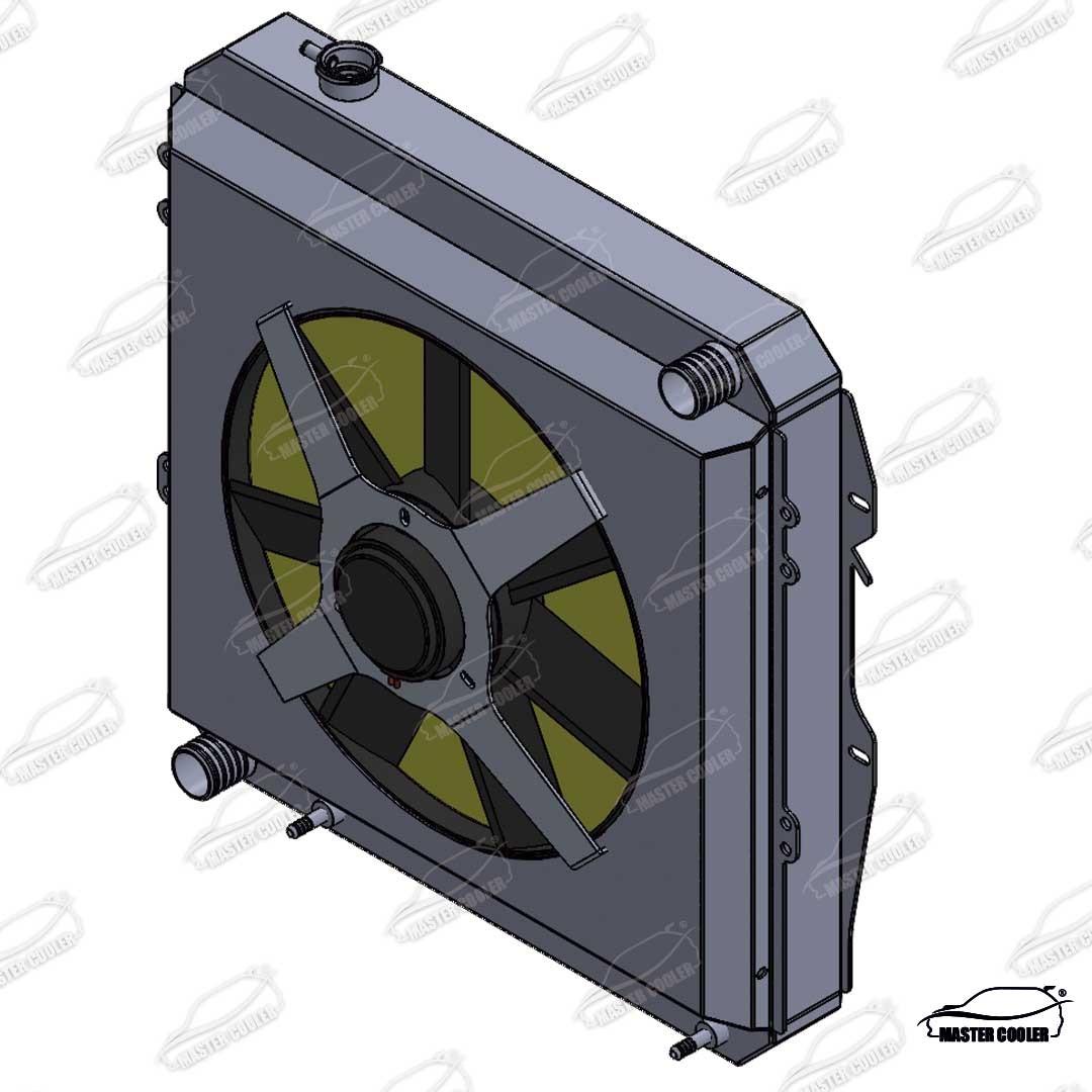 RADIADOR TOYOTA HILUX 3.4 V6 PREMIUM COM TRANSMISSÃO AUTOMATICA E DEFLETOR E ELETRO VENTILADOR