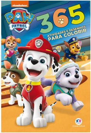 365 desenhos p/ colorir Patrulha canina 3+