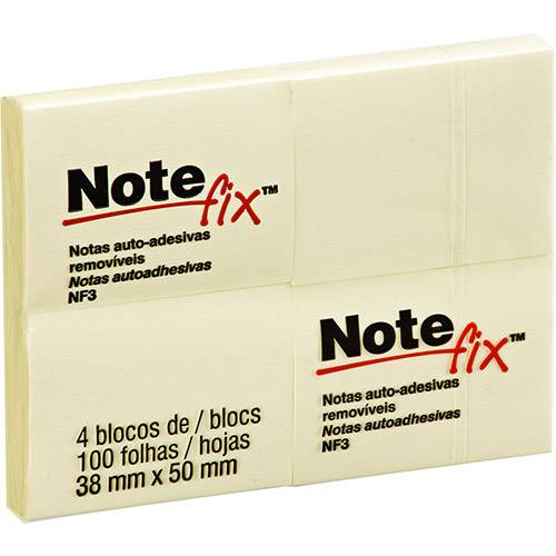 4  Notas Adesivas - Note Fix post-it - 4 blocos