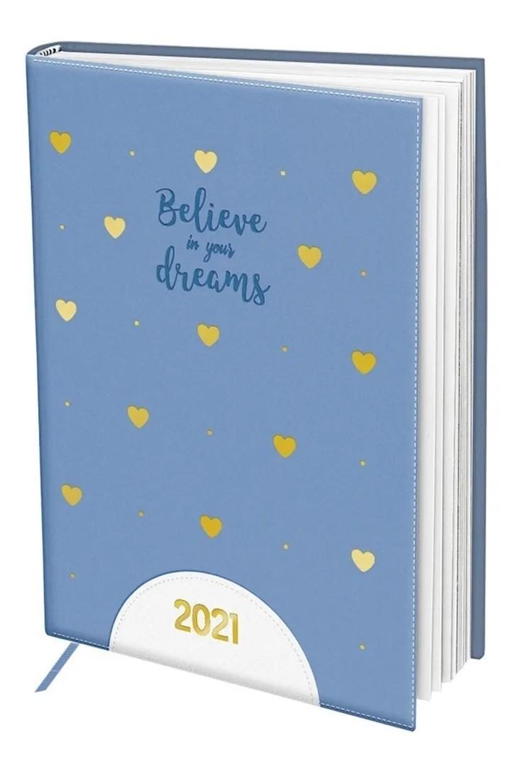 Agenda Believe in Your Dreams 2021 A5 Corações - Dac