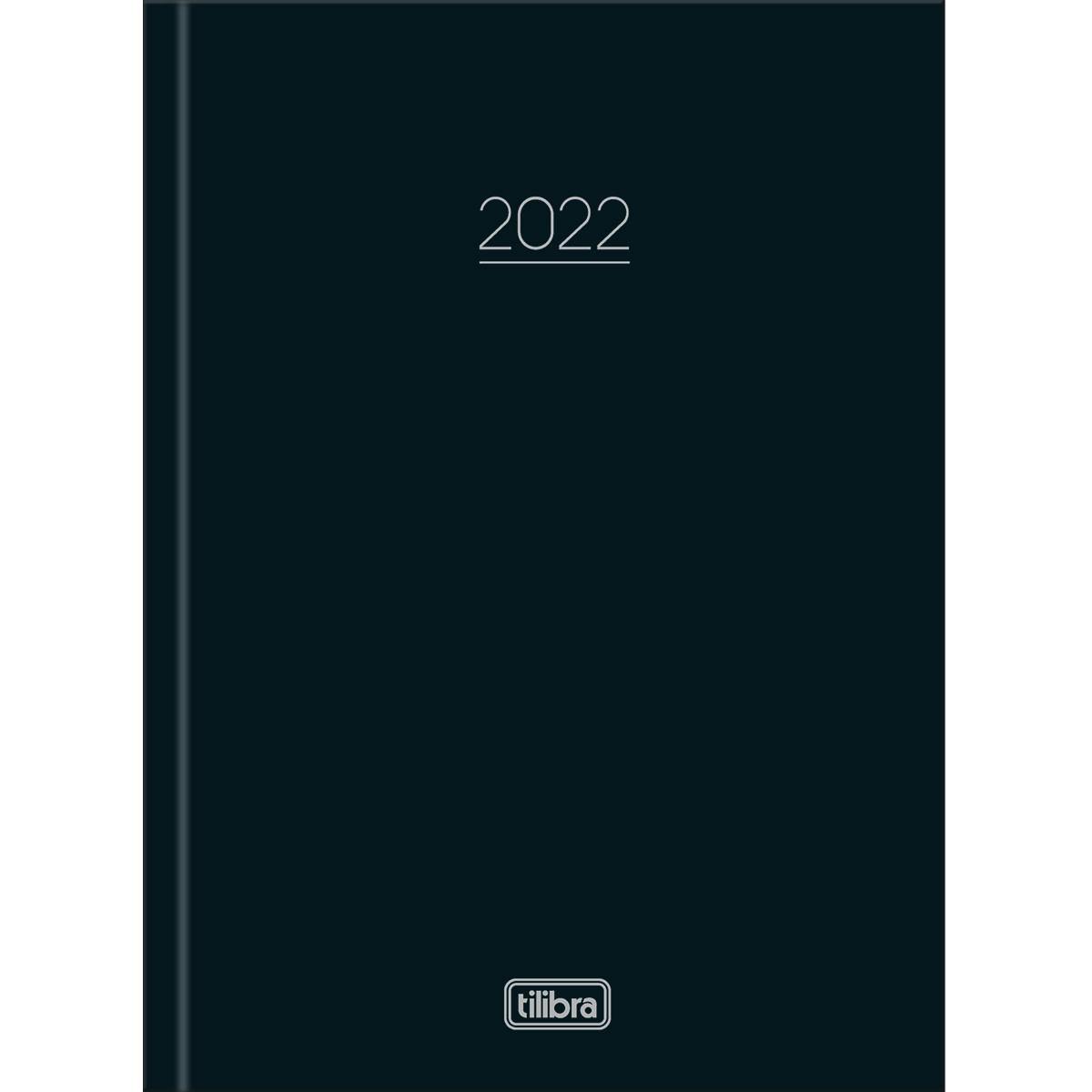 Agenda Costurada Diária Pepper Preto 2022