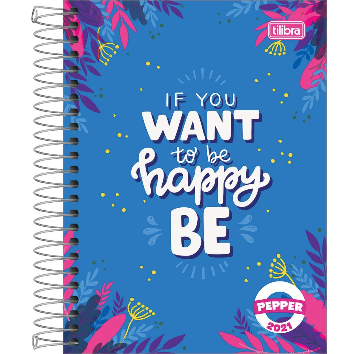 Agenda Espiral Diária Pepper Feminina 2021 Pacote com 4