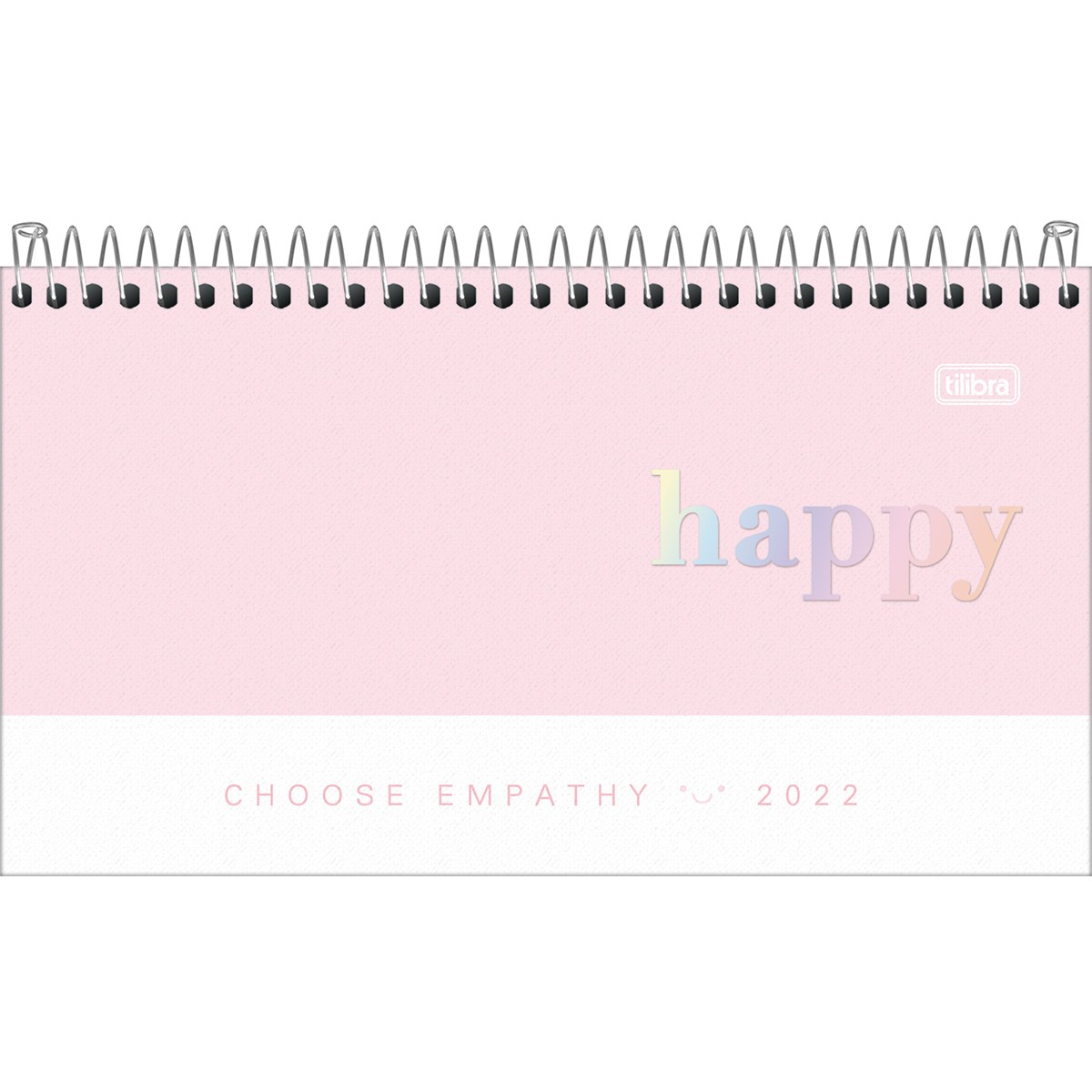 Agenda Espiral Semanal  Happy 2022 - Rosa
