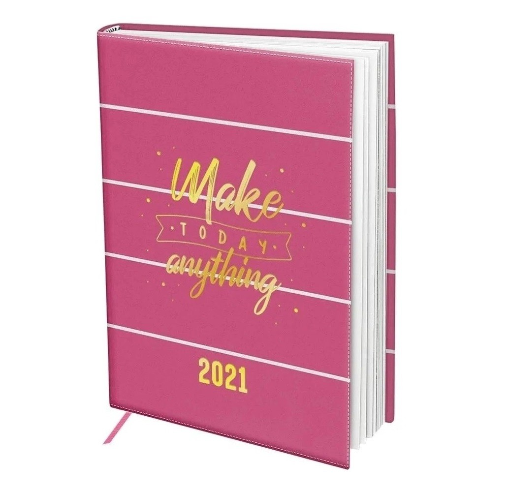 Agenda Mini Executiva Diária Rosa Pink 2021 - Dac