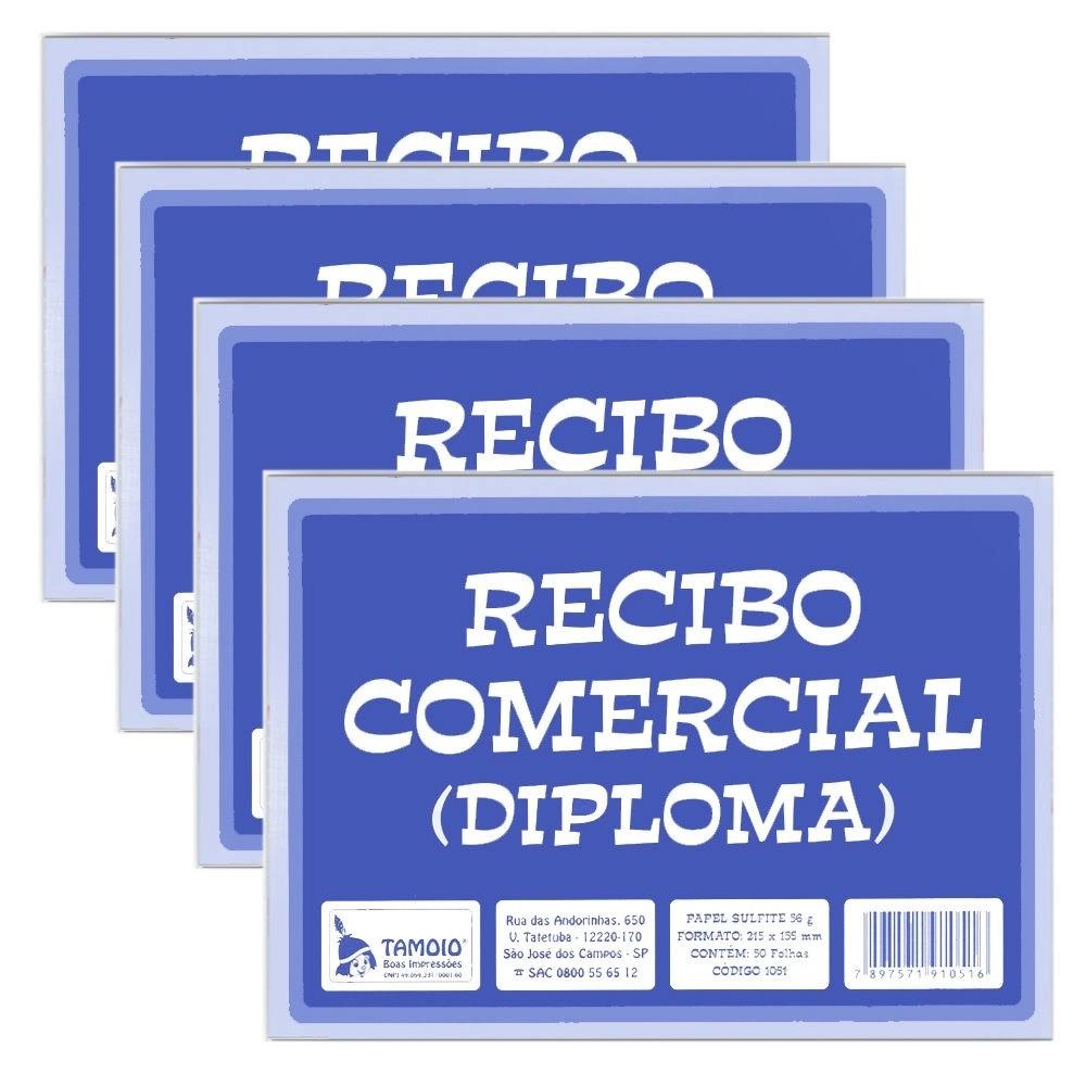 alão de Recibo Comercial Diploma com 50 Folhas - Tamoio