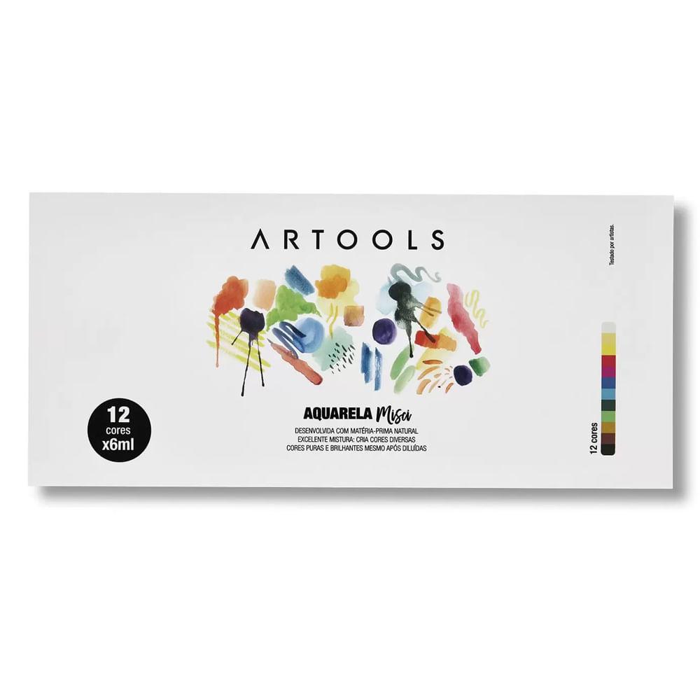 Aquarela Artools Misci 12 Cores Com 6 ML
