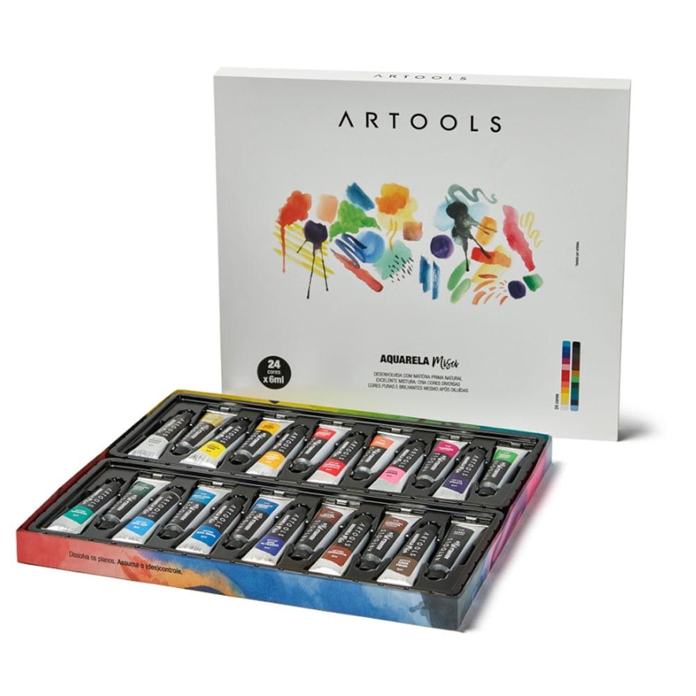 Aquarela Artools Misci 24 Cores Com 6 ML