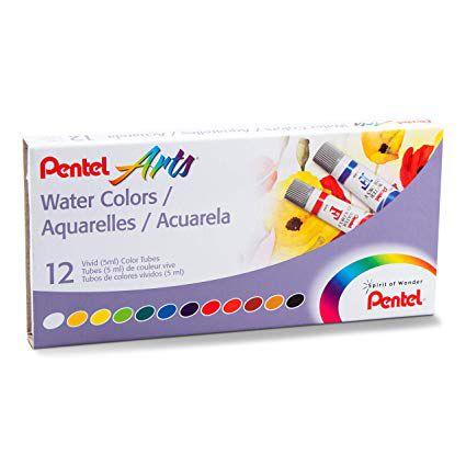 Aquarela com 12 Cores - Pentel