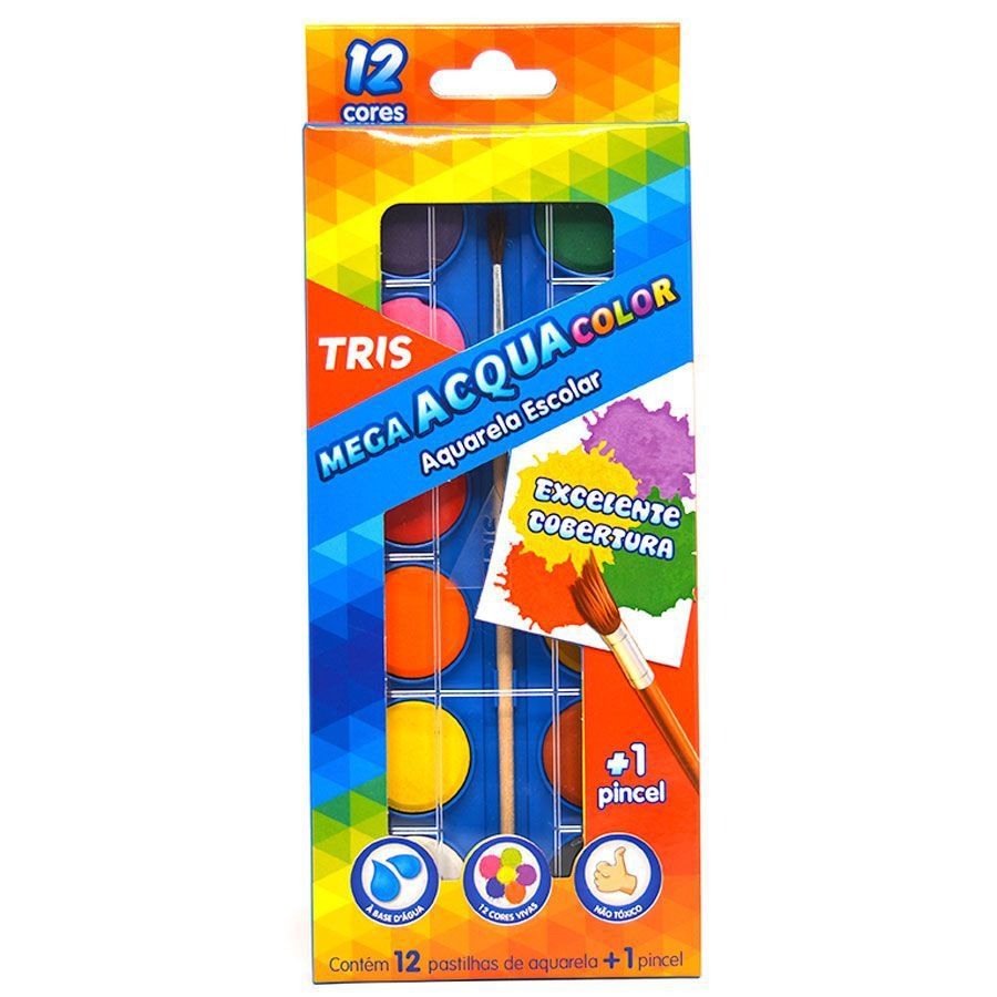 Aquarela Mega Acqua Color - TRIS