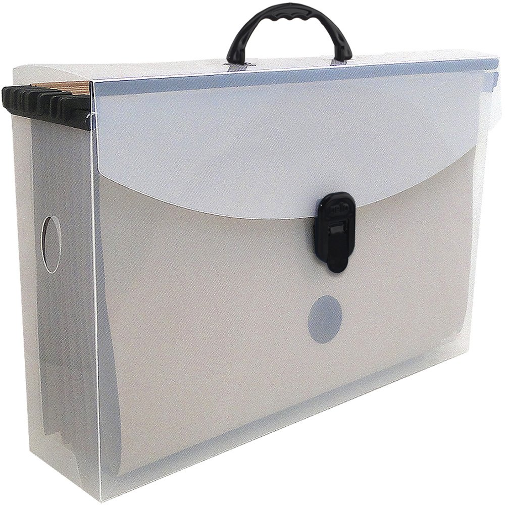 Arquivo maleta slim cristal c/6 pastas suspensas kraft Dello
