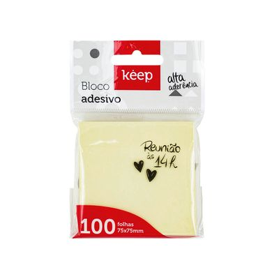 Bloco adesivo amarelo - Keep